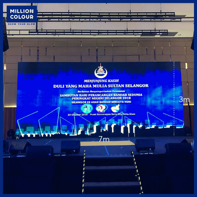 LED Screen Panel Backdrop Rent Malaysia | MillionColour Display